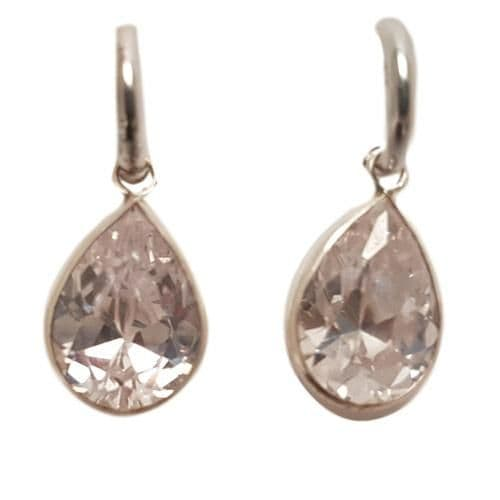 Sterling silver and cubic zircion earrings